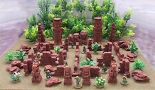 GHOST ARCHIPELAGO (suited) -  'MEGA RUINS PACK'  - PRE PAINTED TERRAIN (Red)