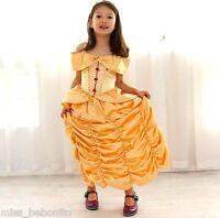 Belle Beauty &The Beast Princess Girls Fancy Dress Costume Cosplay FREE Headband