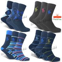 POLO RALPH LAUREN Mens Dress Crew Trainer Socks Designer Suit Work Golf UK 6-11