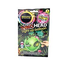 New Packs of 2 to 50 ILLOOM Build Your Own Dinosaur Head Light Up LED Balloons