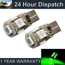 2x W5W T10 501 Canbus Nessun Errore VERDI 5 LED luci laterali FANALI sl101301