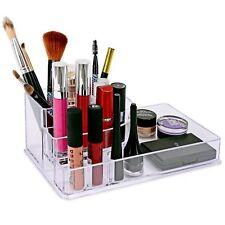 8 sección de Acrílico para Maquillaje Cepillo Organizador de Cosméticos Sostenedor de esmalte de uñas