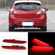 2x LED Rear Bumper Reflector Lens Driving Lights For Mazda 3 2010-2013 Axela BL