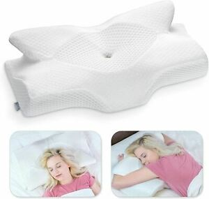 Elviros Cervical Memory Foam Pillow, Contour Pillows for Neck and Shoulder Pain,