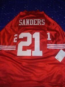 Deion Sanders 2XL San Francisco 49ers Jersey Red Best Offer Brand New