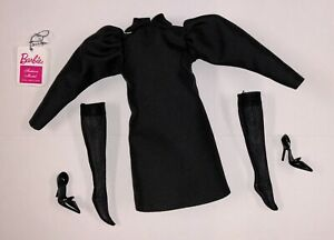 Barbie Silkstone Best in Black Complete Doll Outfit Dress Stockings Shoes NEW