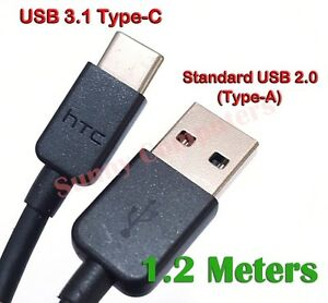 Genuine USB-C USB Type-C Data Charger Adapter Cable For HTC U12+ U12 Life U11+