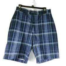 Kirkland Signature Men's Performance Golf Shorts Navy Plaid Size 32