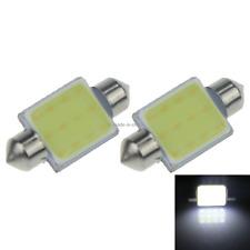 2x White AUTO 36MM Festoon Lamp Number plate Light 1 Emitters COB LED 3423 I131