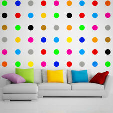 12x 90mm LARGE POLKA DOT WALL VINYL DECAL STICKERS KIDS NURSERY HALLWAY BABY CAR