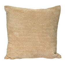 Corduroy Cushion Cover Case in Natural Cream Beige 45cm X 45cm 100 Polyester