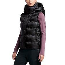 Women's Nike Sportswear NSW Down Fill Hooded Vest Sz M 809549 010 Jordan $185.00