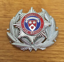 An old Lanarkshire  Fire Brigade, Officers cap badge.