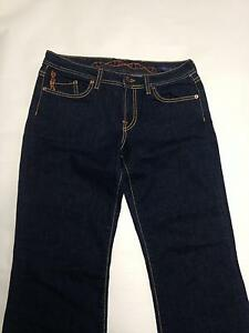 Womens GENETIC DENIM Jeans Sz 31 Recessive Gene Dark Wash Bootcut