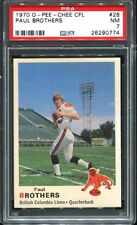 1970 O-Pee-Chee CFL #28 Paul Brothers PSA 7 British Columbia Lions -
