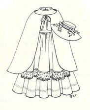 "Pattern Fashion doll dress hat cape 2 sizes 11 12"" 13 14"" fits Barbie Tonner"