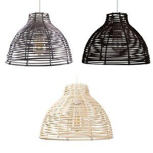 Natural Wicker Ceiling Pendant Light Shade Scandinavian Rustic Basket Lampshade