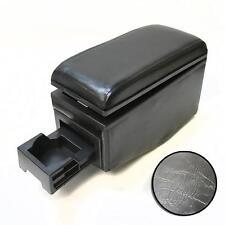 Black Leather Armrest Console Cup Holder For Bmw E30 E32 E34 E36 E46