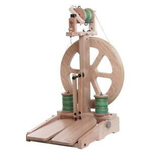 Spinnrad Ashford KIWI 3 Doppeltritt  -unlackiert- Spinnrad spinnen Märchenwolle