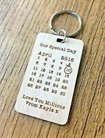 Personalised Gifts For Him Her Husband Wife 5th Wood Anniversary Keyring Gifts