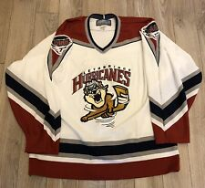 VINTAGE BAUER LETHBRIDGE HURRICANES HOCKEY JERSEY MEDIUM TAZ LOGO WHL