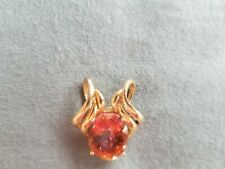 Pink Topaz 14k yellow gold pendant