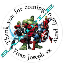 35 personalised SUPER HERO INSPIRED Stickers  labels birthday