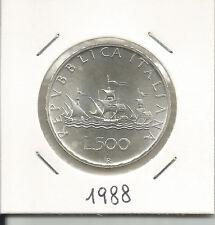 REPUBBLICA ITALIANA - 500 Lire argento Caravelle 1988