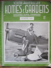 South Australian HOMES & GARDENS,Magazine,Adelaide Aug.1943,WWII,Architecture,GC