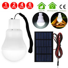 15W Solar Powered Panel LED Lighting System Lights Portable Bulb Outdoor Indoor