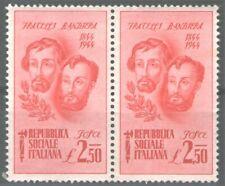 Repubblica sociale italiana 1944 - 2,50 LIRE FRATELLI BANDIERA MNH-SASSONE N.514