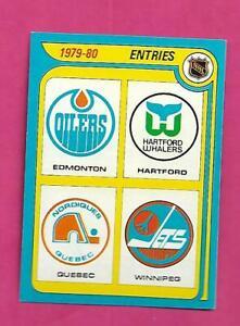 1979-80 TOPPS # 261 NHL ENTRY UNMARKED TEAM CHECKLIST NRMT-MT CARD(INV# D4767)