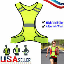 High Visibility Night Running Reflective Security Safety Vest Adjustable Jacket