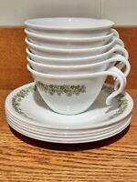 12 piece!! Vintage Corelle Crazy Daisy Spring Blossom Dinnerware