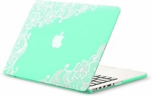 Apple Laptop MacBook Pro case: 13.3 inch Mint Green Lace case in New Condition