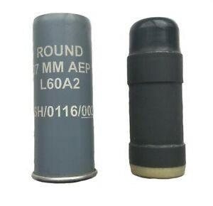 British Army Police Northern Ireland L60A2 37 MM AEP Rubber Bullet Baton Round