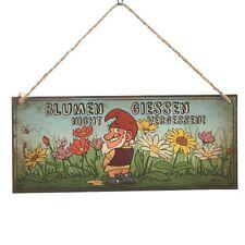 Dekoschild Gartenzwerg 30,5x13 cm Metallschild Schilder Retroschild Gartenschild
