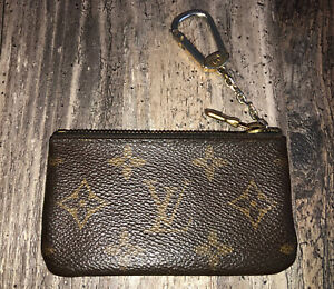 Gorgeous Authentic Louis Vuitton Key Cles Coin Pouch Fob Bag