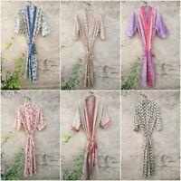 Lot of Vintage Silk Saree Kimono Indian Vintage Silk Sari Recycle Night Robe