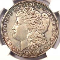 1892-S Morgan Silver Dollar $1 - NGC AU50 - Rare Date in AU50 - $1,800 Value