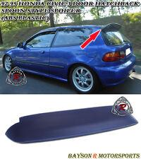 Spn-Style Duckbill Spoiler Wing (ABS) Fits 92-95 Honda Civic 3dr