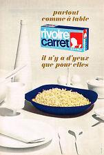 PUBLICITE   1969   RIVOIRE & CARRET   pates alimentaires