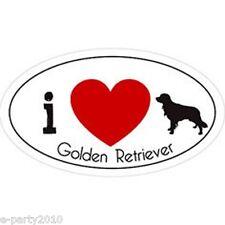 I LOVE GOLDEN RETRIEVER CAR MAGNET ~ DOG PET THEMED GRAPHICS FOR YOUR AUTOMOBILE