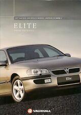 Vauxhall Omega Elite 1996-97 UK Market Brochure Saloon Estate 3.0 V6 24v 2.5 TD