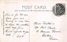 Miss Watkins. c/o Mrs Beale, 2 Manor Terrace, Seaton, Devon. 1904.     ai.193