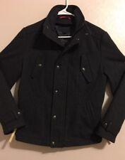 EUC>>Jack & Jones Wool Jacket>>Lined>>Size S/M?>>Long Sleeve>Zipper & Snap Front