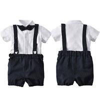 Baby Jungen Gentleman Hemd Shirt Kurzhose Taufanzug Smoking Anzug Party Hochzeit