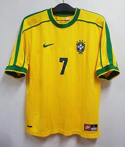 1999 BRASIL Home S/S No.7 RONALDINHO 99 CONFEDERATION CUP Ver jersey shirt