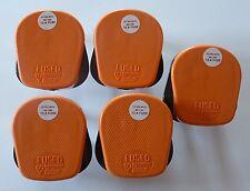 5 x 13 Amp Arancione 3 Pin Spina Hi Viz Prolunga Spina giardino fai da te 13 A BS1363A
