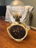 Vintage Founding Fathers USA Spirit of 76 Kerosene Oil Lamp America Washington